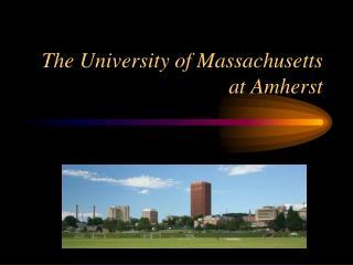 The University of Massachusetts at Amherst
