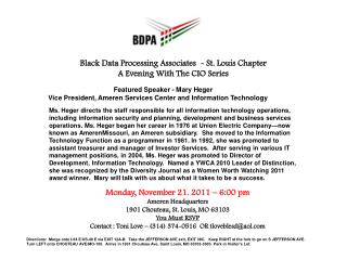 Black Data Processing Associates  - St. Louis Chapter A Evening With The CIO Series