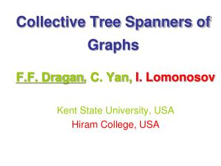Collective Tree Spanners of Graphs