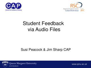 Susi Peacock & Jim Sharp CAP