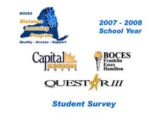 Distance Learning Student Response Profile and Totals