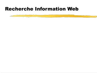 Recherche Information Web