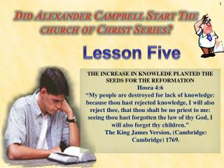Did Alexander Campbell Start The   church of Christ Series?