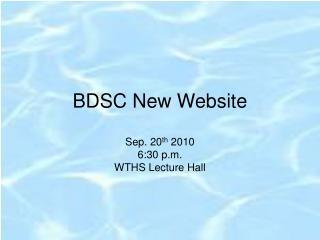 BDSC New Website