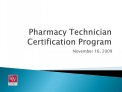 Pharmacy Technician Certification Program