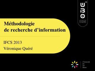 Méthodologie  de recherche d'information
