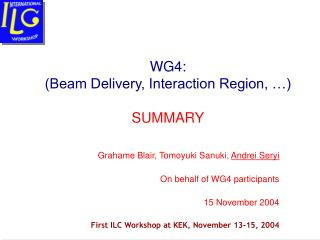 WG4:  (Beam Delivery, Interaction Region, …) SUMMARY