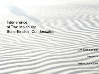Interference  of Two Molecular  Bose-Einstein Condensates