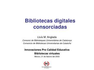 Bibliotecas digitales consorciadas