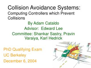 Collision Avoidance Systems: Computing Controllers which Prevent Collisions