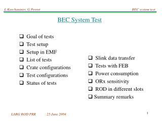 BEC System Test