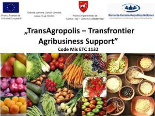 """""""TransAgropolis – Transfrontier Agribusiness Support""""  Code Mis ETC 1132"""