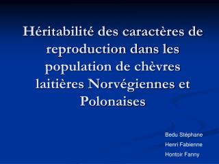 Bedu Stéphane Henri Fabienne Hontoir Fanny