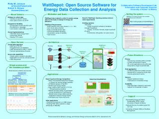 WattDepot: Open Source Software for  Energy Data Collection and Analysis