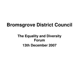 Bromsgrove District Council