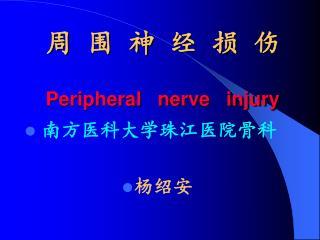 周  围  神  经  损  伤 Peripheral   nerve   injury
