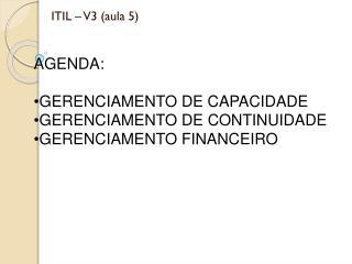 ITIL � V3 (aula 5)