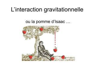 L�interaction gravitationnelle