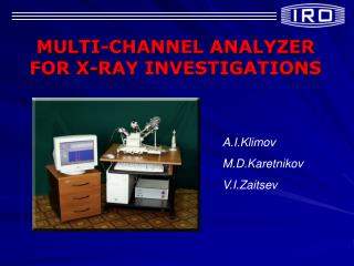 MULTI-CHANNEL ANALYZER FOR X-RAY INVESTIGATIONS