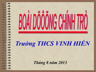 Trường THCS VINH HIỀN