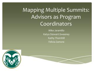 Mapping Multiple Summits: Advisors as Program Coordinators