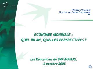 Philippe d'Arvisenet Directeur des Etudes Economiques BFI