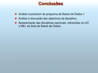 Conclus�es