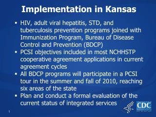 Implementation in Kansas
