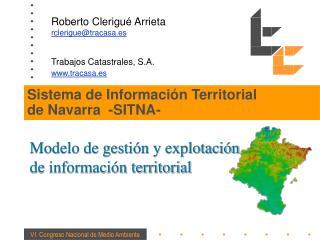 Sistema de Información Territorial de Navarra  -SITNA-