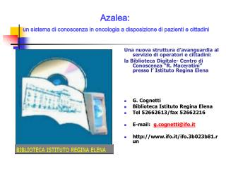 Azalea: un sistema di conoscenza in oncologia a disposizione di pazienti e cittadini