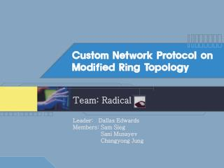 Custom Network Protocol on Modified Ring Topology
