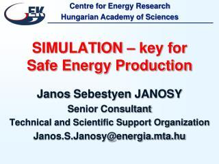 SIMULATION – key for Safe Energy Production