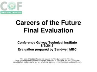 Careers of the Future  Final Evaluation
