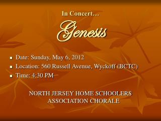In Concert… Genesis