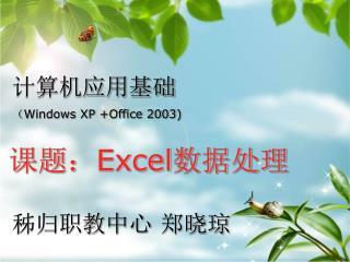 计算机应用基础 ( Windows XP +Office 2003)