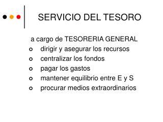 SERVICIO DEL TESORO