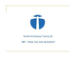 Nordisk Emballasje Testing AS