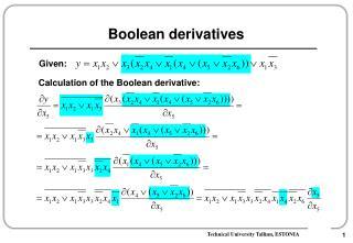 Boolean derivatives