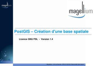 PostGIS – Création d'une base spatiale