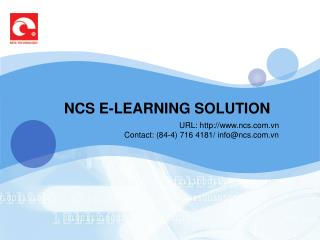 NCS E-LEARNING SOLUTION