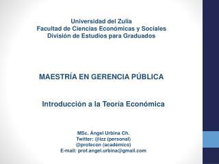 Universidad del Zulia Facultad de Ciencias Económicas y Sociales