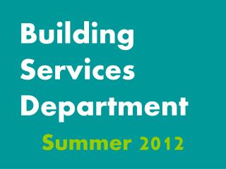 Building Services Department