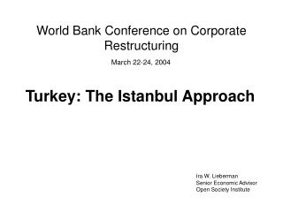 World Bank Conference on Corporate Restructuring