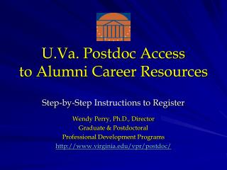 U.Va. Postdoc Access  to Alumni Career Resources