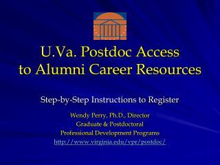 U.Va. Postdoc Access  to Alumni Career Resources