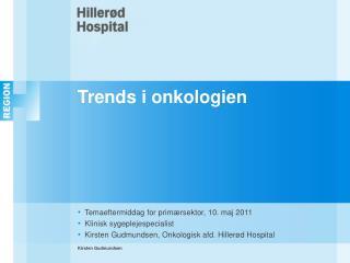 Trends i onkologien