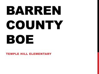 Barren county BOE