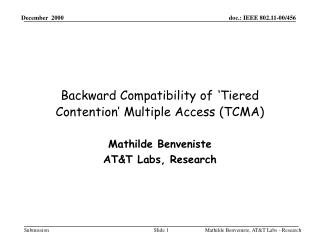 Backward Compatibility of 'Tiered Contention' Multiple Access (TCMA)