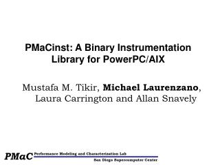 PMaCinst: A Binary Instrumentation Library for PowerPC/AIX