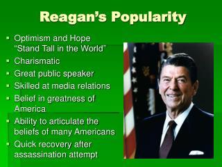Reagan's Popularity
